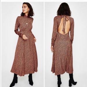 Free People Cocoa Loveless Leopard Mini Dress